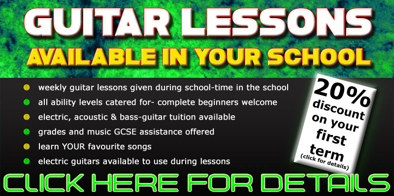Click here for guitar lessons in schools